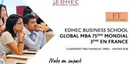 Classé 3ème en France* pour son programme MBA, l'EDHEC Executive Education place la digitalisation et l'internationalisation au cœur de son offre de formation